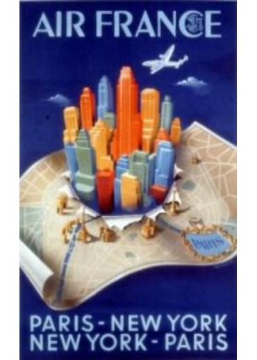Affiche Musée Air France® - Paris - New York - Paris